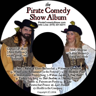 Pirate Comedy Show Album CD Picture